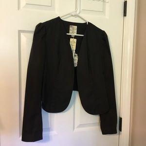 NWT black cropped jacket